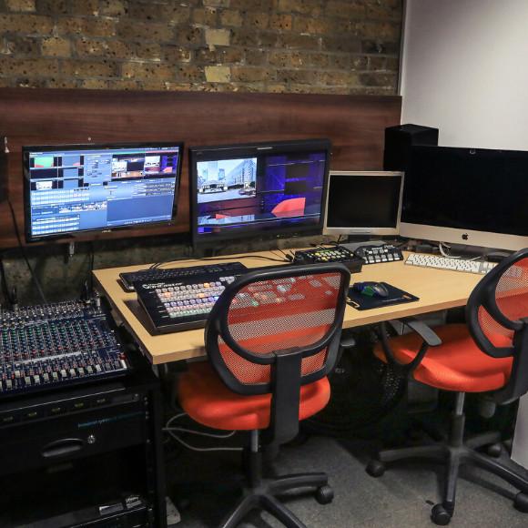 Camera close up studio for webinars