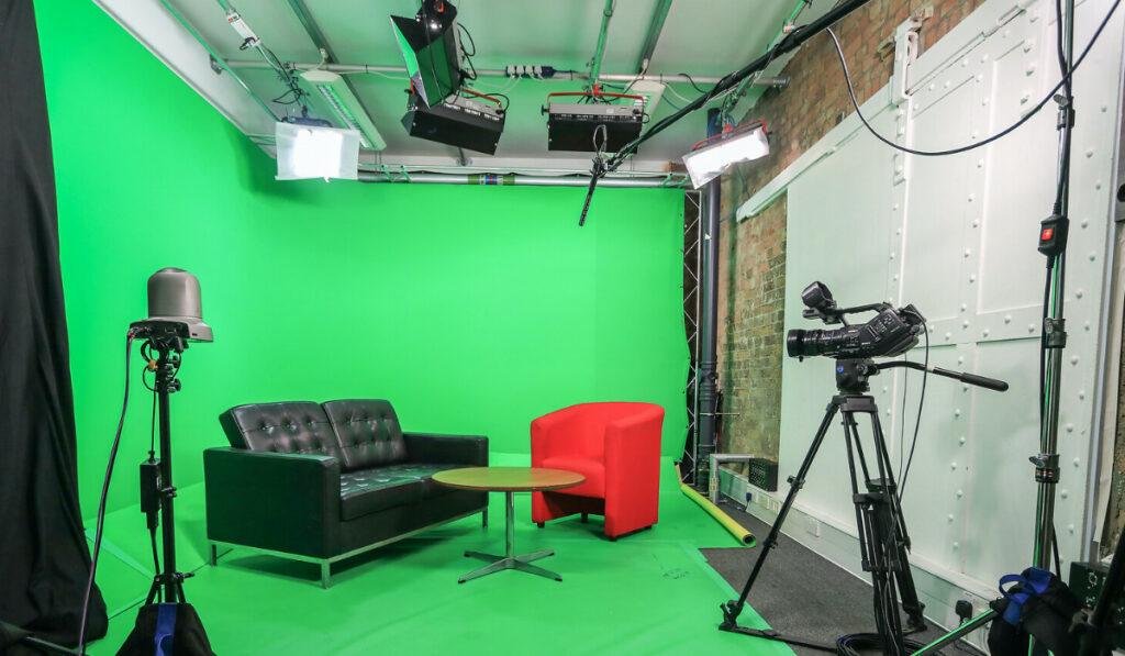 Bombora studio with green screen